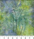 Legacy Studio Indonesian Batiks Cotton Fabric 44\u0022-Dotted Swirls Teal