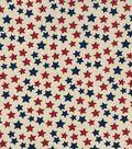 Patriotic Cotton Fabric 43\u0027\u0027-Rustic Foil Stars