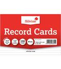 Silvine 100 pk Record Cards 6\u0027\u0027x4\u0027\u0027-White Ruled