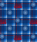 Chicago Cubs Flannel Fabric 42\u0022-Plaid