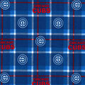 Chicago Cubs Flannel Fabric-Plaid