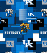 University of Kentucky Wildcats Cotton Fabric 43''-Modern Block, , hi-res