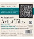 Strathmore Black Artist Tiles 6\u0022X6\u0022 30/Pkg