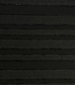 Silky Crepe Sheer Fabric 56''-Black Stripes