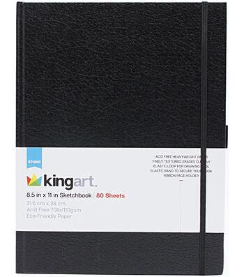 """KINGART Hardcover Sketchbook 8.5""""X11""""-80 Sheets"""