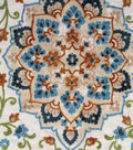 Knit Apparel Fabric 57\u0022-Ivory Rust Mosaic Vine Floral