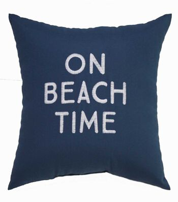 Seaport 18''x18'' Pillow-On Beach Time