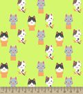Kitty in a Box Print Fabric