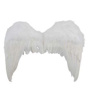 Maker's Halloween Deluxe Adult Feather Angel Wings-White