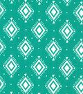 Quilter\u0027s Showcase Fabric 44\u0027\u0027-Pool Green Aztec Geometric