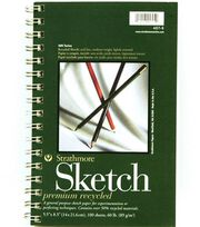 "Sm Recycled Sketch Pad 5""X8"", , hi-res"