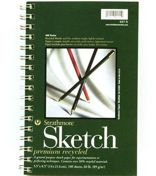 "Sm Recycled Sketch Pad 5""X8"""