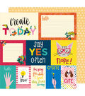 American Crafts Box of Crayons 25 pk 12\u0027\u0027x12\u0027\u0027 Cardstock-Say Yes Often
