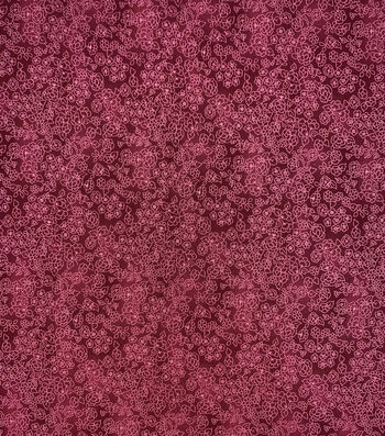 Keepsake Calico Cotton Fabric-Red Floral Outlines