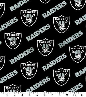 Oakland Raiders Cotton Fabric -Black