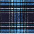 Anti-Pill Plush Fleece Fabric-Aqua & Navy Distressed Plaid