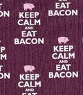 Novelty Cotton Fabric-Eat Bacon
