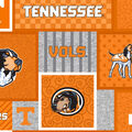 University of Tennessee Volunteers Fleece Fabric-College Patch