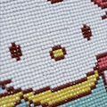 Vervaco 8.75\u0027\u0027x8.75\u0027\u0027 Diamond Art Kit-Hello Kitty in the Snow