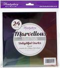 Hunkydory Crafts 8\u0027\u0027x8\u0027\u0027 Marvellous Mirri Paper Pad-Delightful Darks