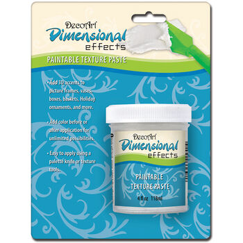 DecoArt Dimensional Effects Paintable Texture Paste-Carded White