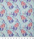 Novelty Cotton Fabric-Mermaids Mint Pastel
