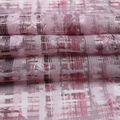 Silky Chiffon Fabric-Mauve Abstract Plaid