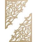 Ultimate Crafts Special Occasions Die-Gold Leaf Corner 2.2\u0022X2.7\u0022