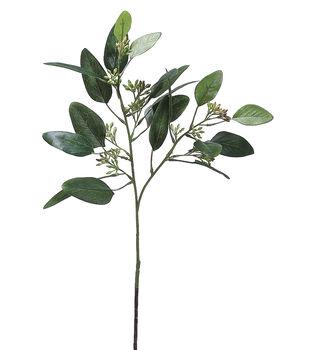 Pack of 12 18'' Seeded Eucalyptus Sprays-Green