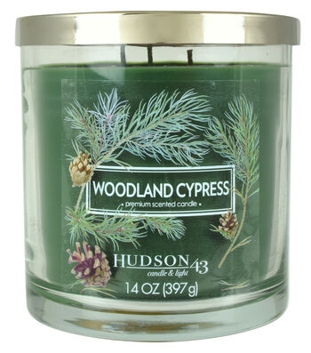 Hudson 43 Candle & Light 14 oz. Woodland Cypress Scented Jar Candle