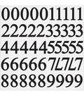 Number Stickers 12\u0022X12\u0022 Sheet-Ebony 1.75\u0022