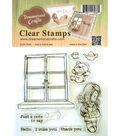 Dreamerland Crafts Clear Stamp Set 4\u0027\u0027x4\u0027\u0027-Just A Note To Say