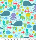Snuggle Flannel Fabric -Sea Friends