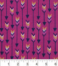 Snuggle Flannel Fabric -Boho Arrows Pink