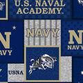 US Naval Academy Midshipmen Fleece Fabric-College Patch