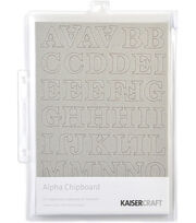 Kaisercraft Chipboard Embellishments-145PK/Alphas, , hi-res