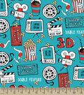 Snuggle Flannel Fabric -Movie Night