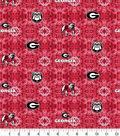 University of Georgia Bulldogs Flannel Fabric-Tie Dye