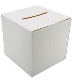 "Foldable Card Box 12""X12""-White"