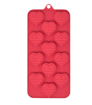 Land of the Free Baking Patriotic 8.5''x4'' Candy Mold-Flag Hearts