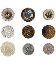 Tim Holtz Idea-Ology Advantus Corp Accoutrements Fanciful Buttons, , hi-res