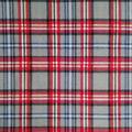 Anti-Pill Plush Fleece Fabric-Gray & Red Plaid
