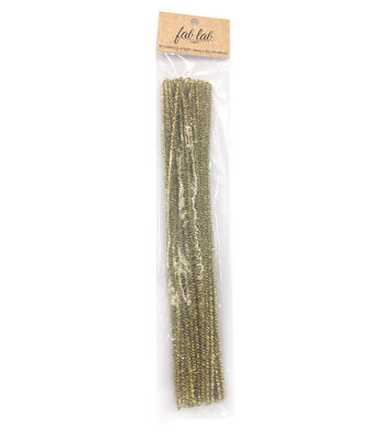 "Darice 12"" 3mm Tinsel Chenille Stems-35PK/Gold"