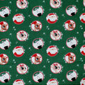Christmas Rudolph the Red Nosed Reindeer Cotton Fabric-Tossed Badges