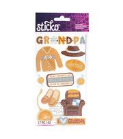 American Crafts Stickers-Off Grandpa, , hi-res