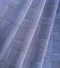Refined Ponte Knit Fabric 58\u0022-Navy Glen Plaid