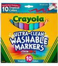 Crayola Color Max Broad Line 10 pk Washable Markers-Tropical Colors