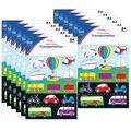 Carson Dellosa Transportation Shape Stickers 12 Packs