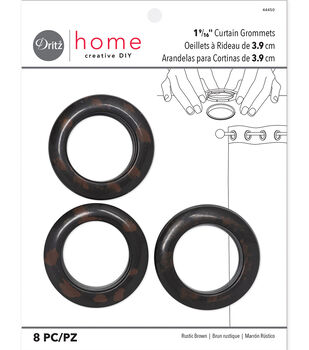 "Dritz 1.56"" Curtain Grommets Brown 8pcs"