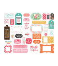 Echo Park Paper Co. I Heart Crafting Ephemera Cardstock-Frames & Tags